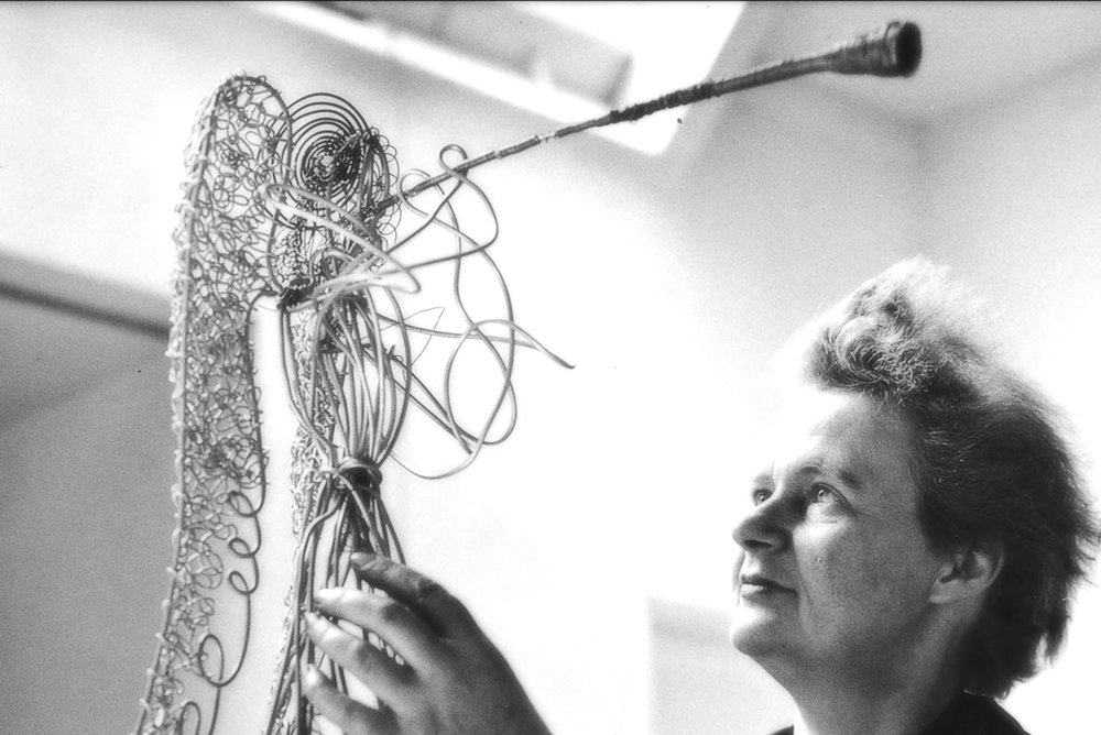 In 1969, Valerie Clarebout's triumphant and towering wire angel figures debuted in the Channel Gardens. She created the twelve sculptures using seventy-five points of metal wire each. Valerie Clarebout passed away in 1982 at the age of seventy-four, but her legacy lives on in her resplendent gift to New York City. image: nypl