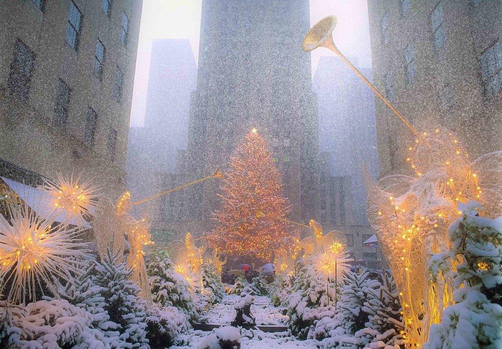 Christmas 2017 at the Rockefeller Center. Photo Lucas Compan (2017)