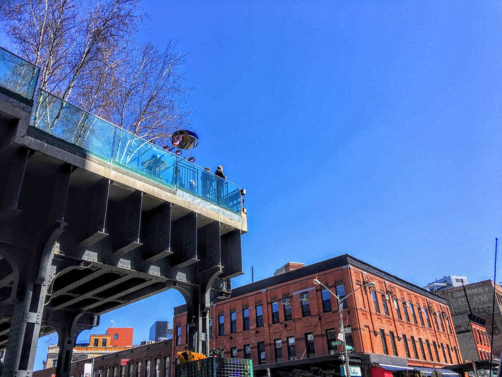 The High Line starts at the meatpacking district. photo: lucas compan