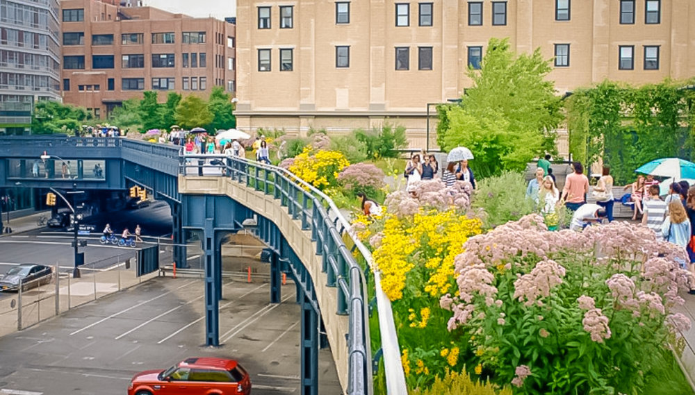 springtime at the high line: colors and flowers all the way. photo: lucas compan