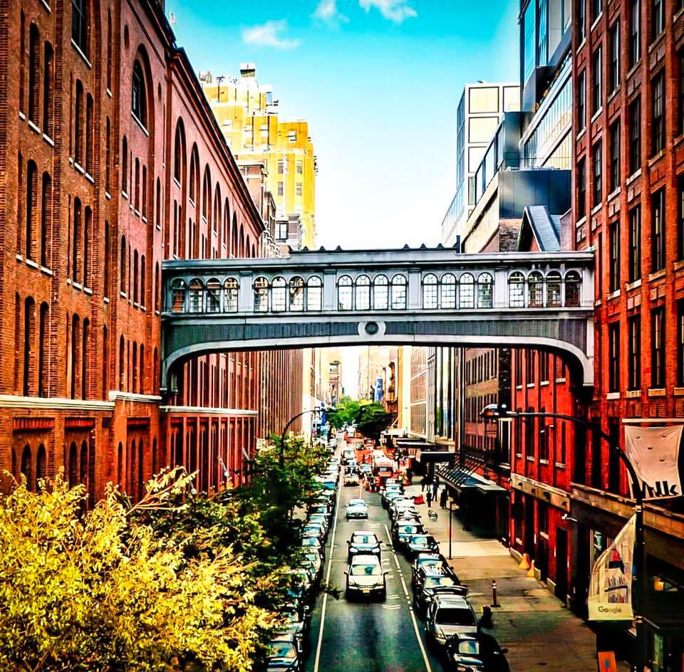 Chelsea Market  captured from The High Line. A block long and a block wide and just a short walk from the Hudson River in the area known as the  Meatpacking District, Manhattan , Chelsea Market has become in just fifteen years one of the greatest indoor food halls of the world, with more than thirty-five vendors purveying everything from soup to nuts, wine to coffee, cheese to cheesecake. Attracting 6 million national and international visitors annually, it is one of the most trafficked, and written-about, destinations of any kind in New York City. Chelsea Market is a neighborhood market with a global perspective. Photo: lucas Compan