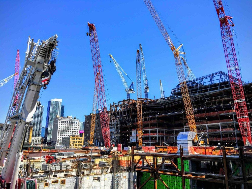construction sites along the high line. Photo: lucas compan