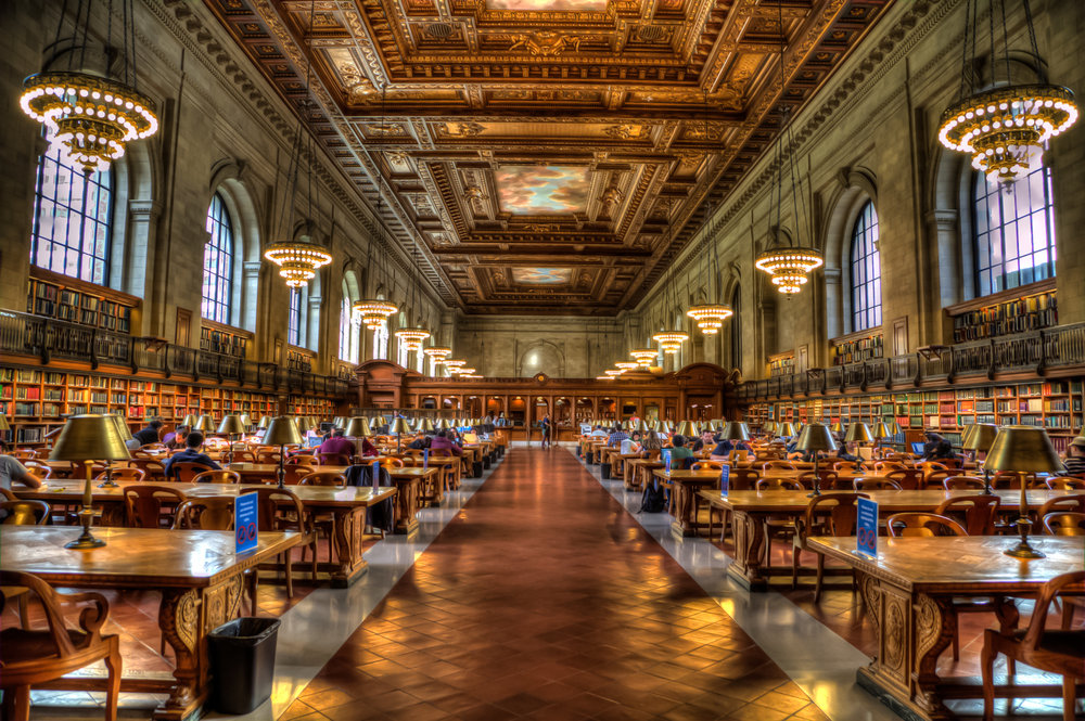 Main rose reading room at the nypl. photo:    @lucascompan