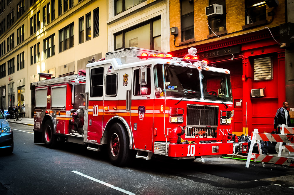 A classic FDNY truck in the streets of New York City. Photo:   @lucascompan