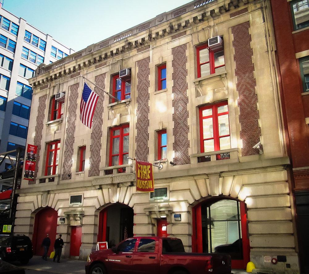 the new york city fire museum on 278 Spring Street, soho. Photo:   @lucascompan