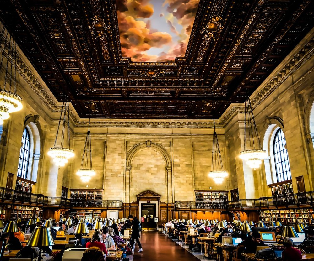 ROSE MAIN READING ROOM, NEW YORK PUBLIC LIBRARY. PHOTO:  @LUCASCOMPAN