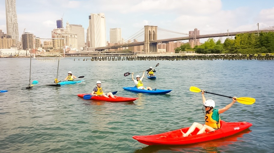 Summer and water: always a super fun combination. When it's free, it's even better, right? Photo: Etienne Frossard, Brooklyn Bridge Park Boathouse Pier 2