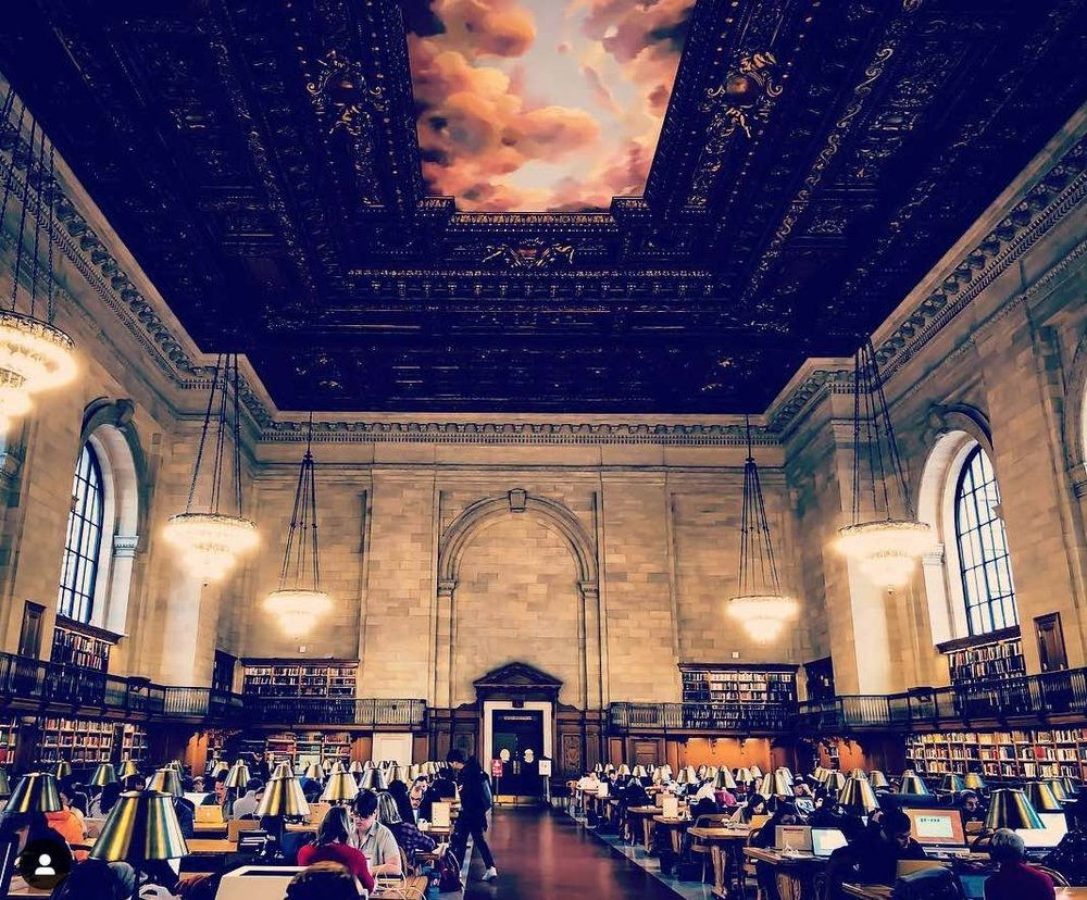 Rose Main Reading Room at the NYPL - New york city public library. Photo  @lucascompan