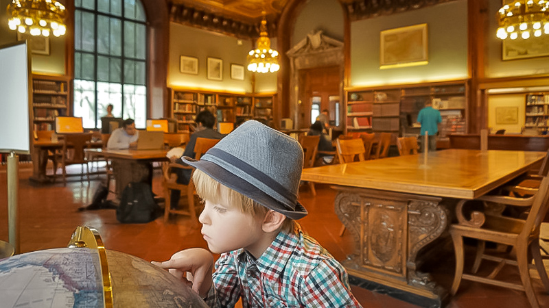 map collection Room at the New York Public Library. image: courtesy    mommynearest   .