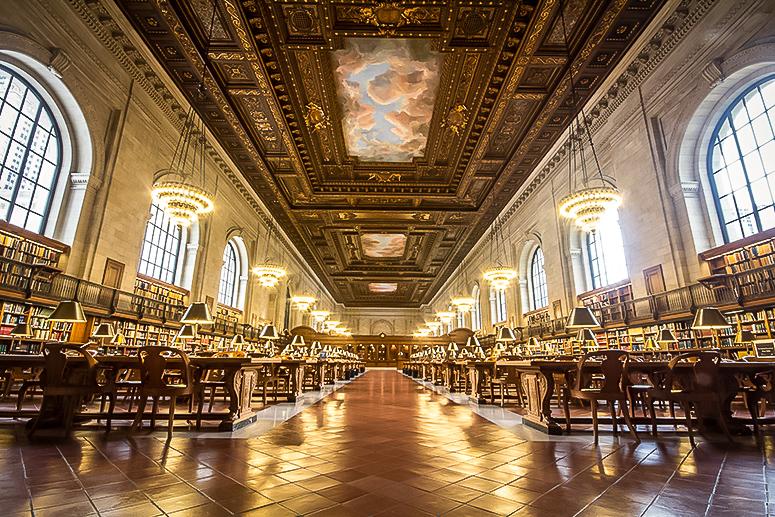 Rose Main Reading Room at the NYPL - New york city public library. image: courtesy NYPL