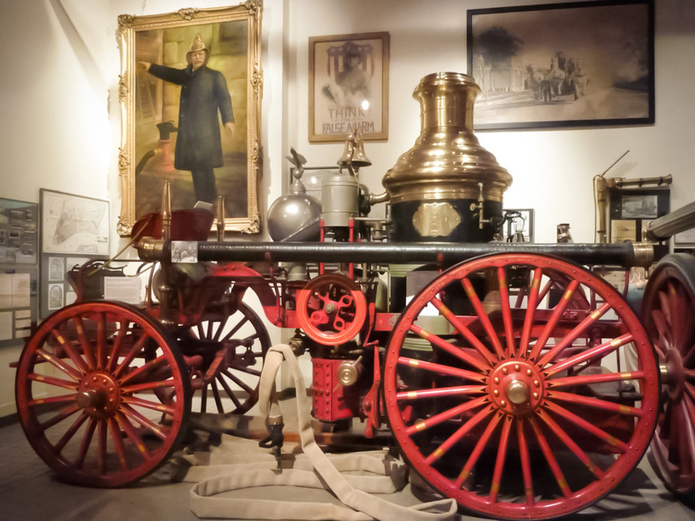 LA FRANCE FIRE ENGINE COMPANY HORSE-DRAWN STEAM ENGINE, 1901 . PHOTO:   @LUCASCOMPAN