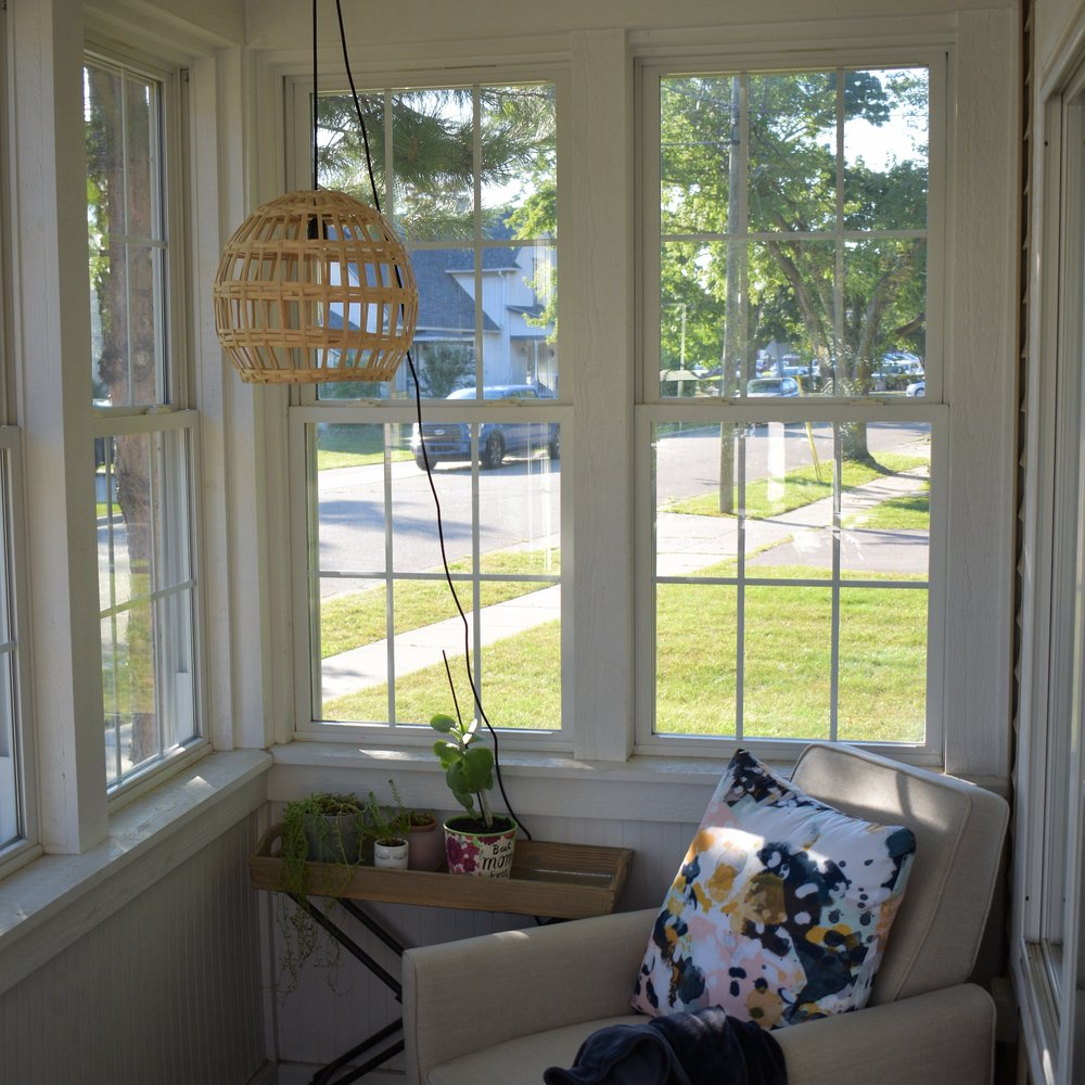 This porch has been shared over and over but I can't help it, its my favorite spot in our house.