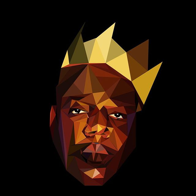 It was all a dream.  #throwback  #biggiesmalls #hiphop #rap #artist #polygons #rendering #illustration #illustrator