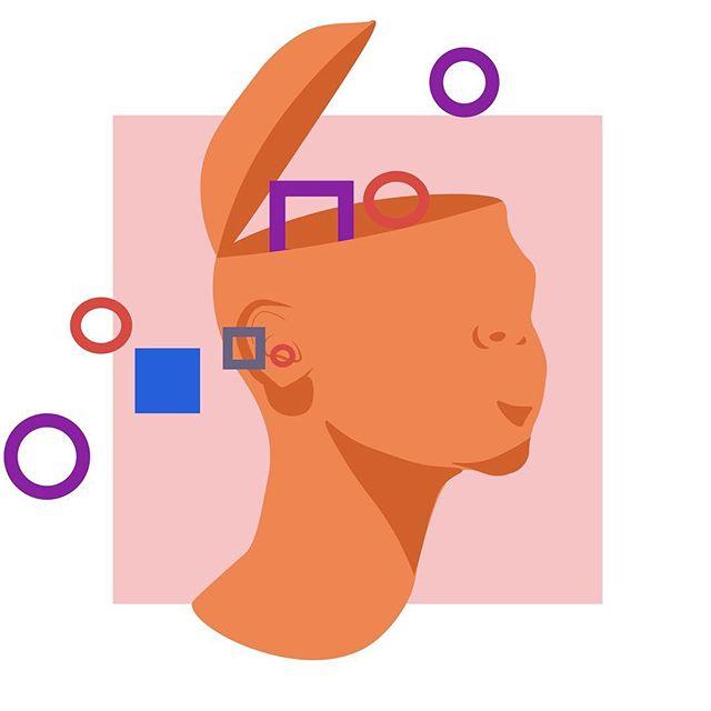 headspace 🧠 . . . . . . #illustrator #designer #abstract #youngblackartist #artist #orange #LA #mentalhealth #head #mind #light #shapes #draw