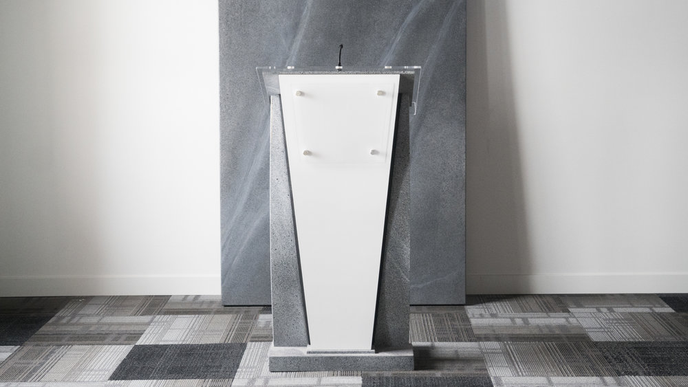 LECTERN DESIGN - Customized to the image of your company.