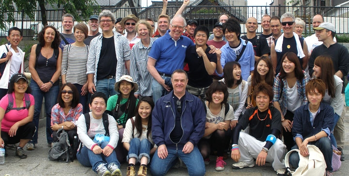 Above, supporters in Kyoto, Japan hold an annual walk to raise funds for Zienzele.