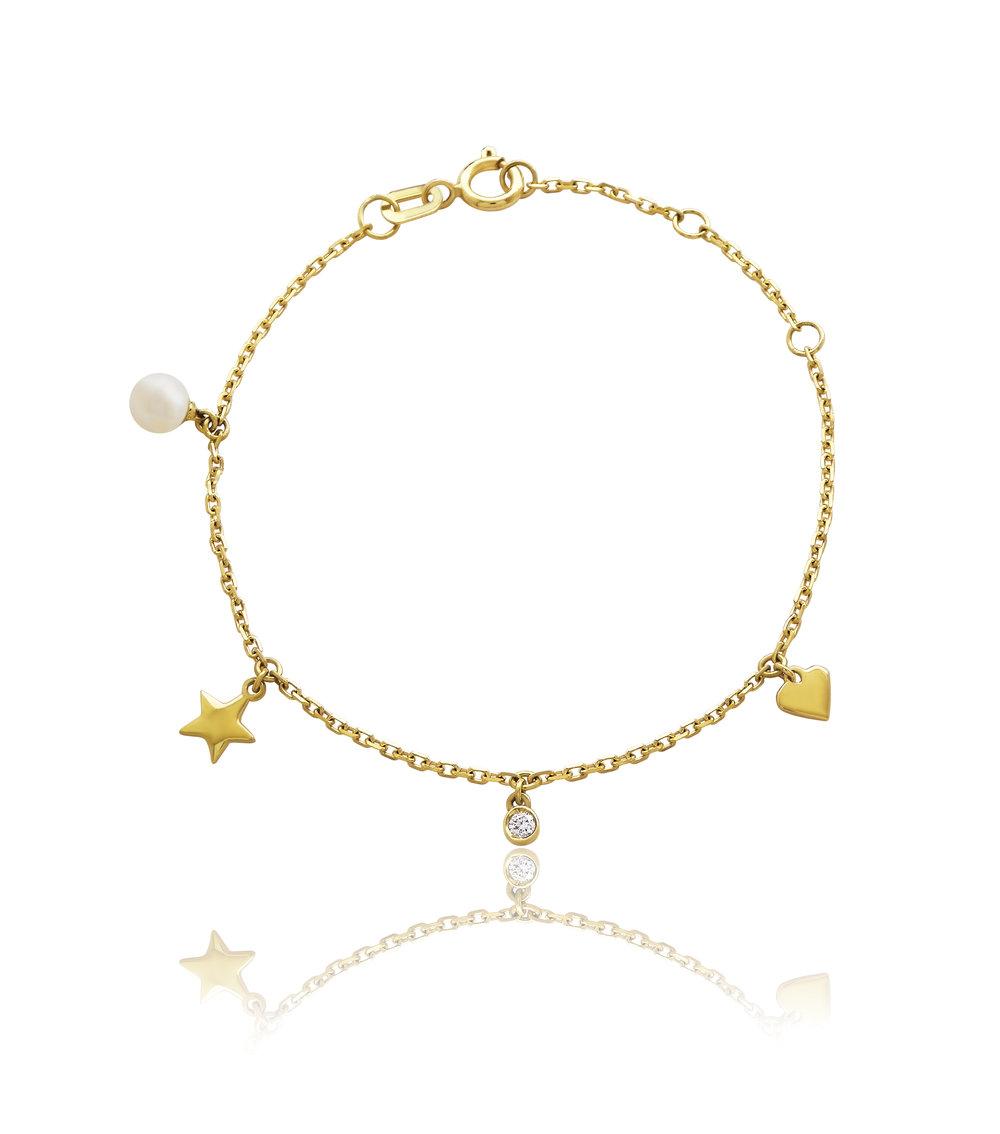 Pulseira Berloques em ouro amarelo 18k com pérola e diamante R$780,00 JULIA BLINI.jpg