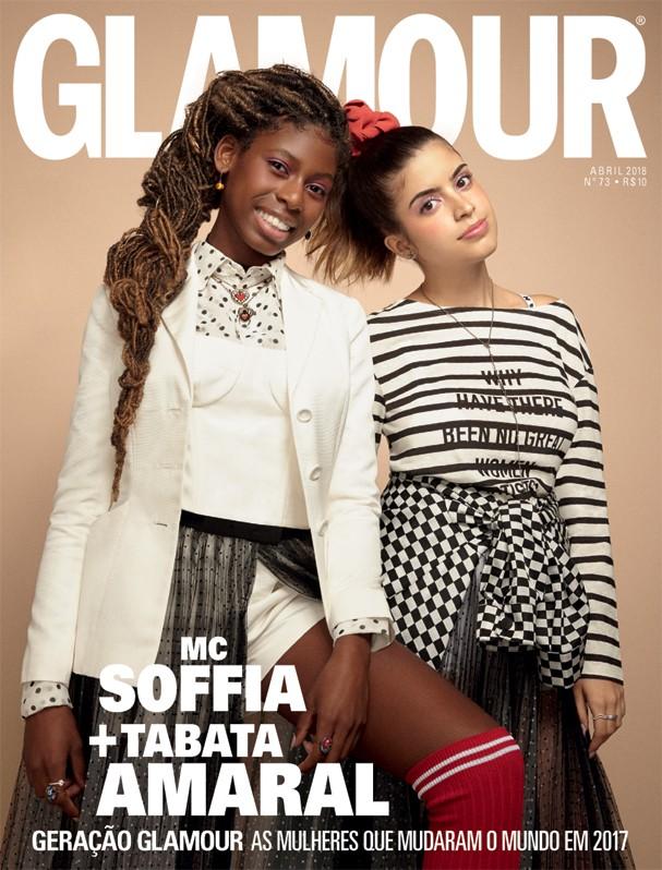 Na capa da Glamour de Abril/2018 com a MC Soffia