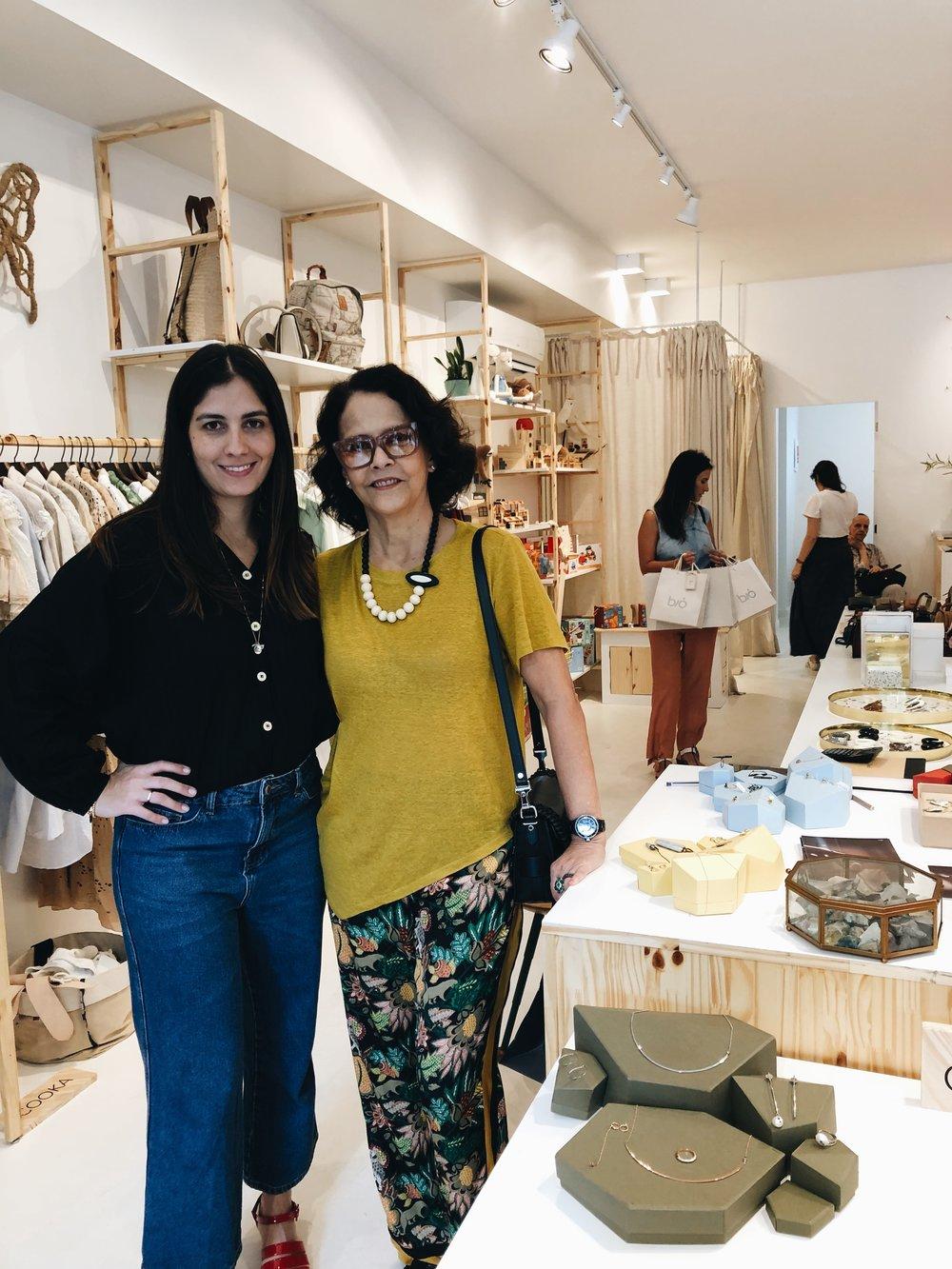 A founder Rosa Zaborowsky e Rosa Barbosa (aka, the mother)