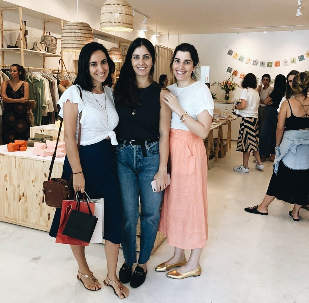 Alê Levy, Rosa e Bió, a founder da Mundo Bió onde rolou o Lolla Market