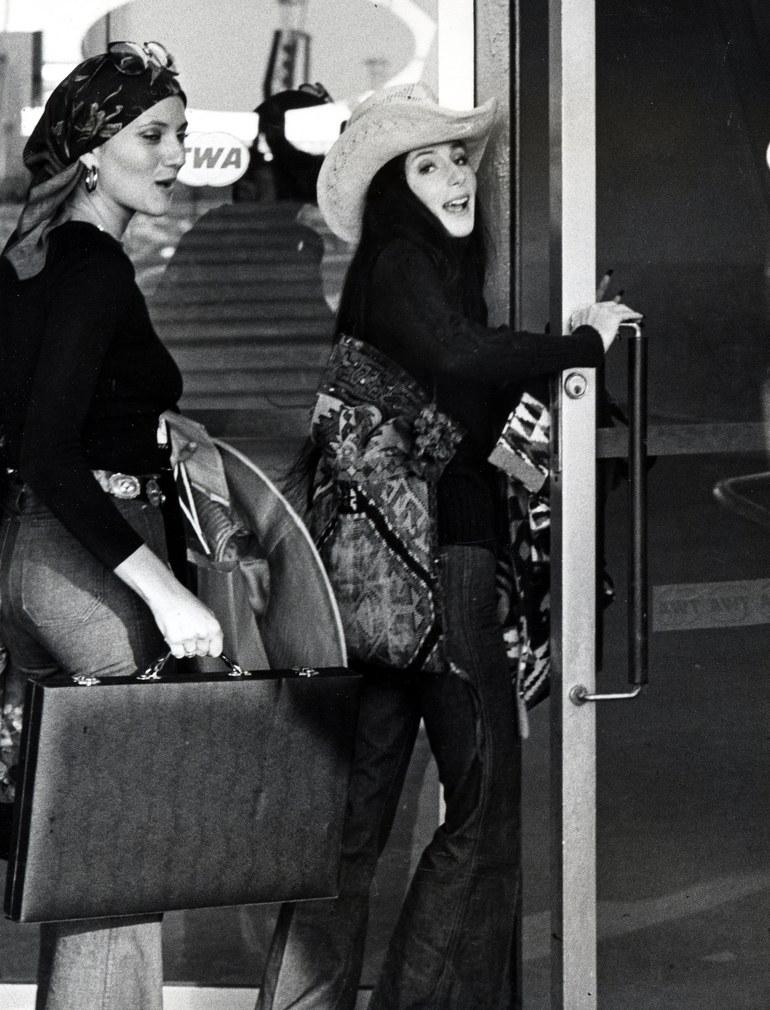 Cher at JFK in 1974
