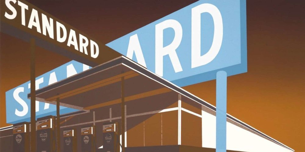 Double Standard, 1970. Ed Ruscha | UBS Art Collection ©Ed Ruscha. Courtesy of the artist and Gagosian