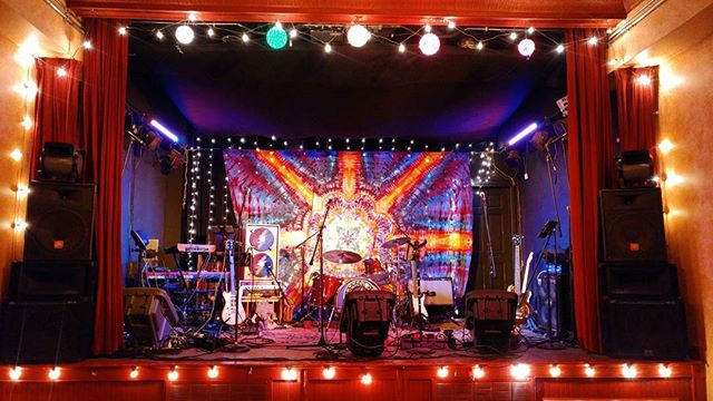 The stage is set! Doors open and band goes on at 9PM. See you soon!