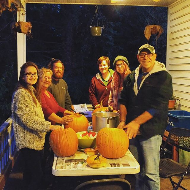 Last night, a few of us got together for a Pumpkin Carving Party. It was great to just hang out and enjoy each other's company after a stressful week. Thank you to everyone who has supported us this week and always. It means everything.