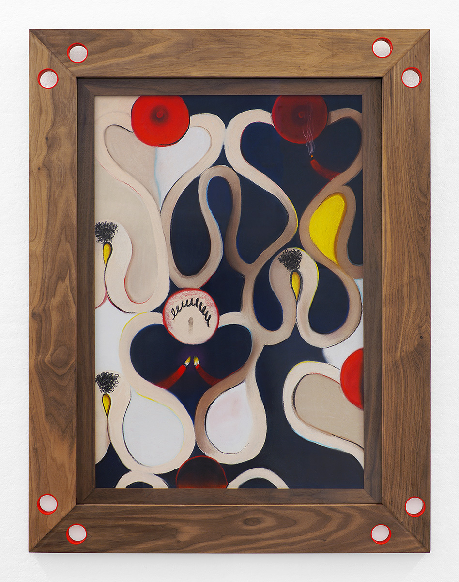 Untitled, 2018, soft pastel on paper with walnut frame, 39 x 29 in/99.06 x 73.66 cm