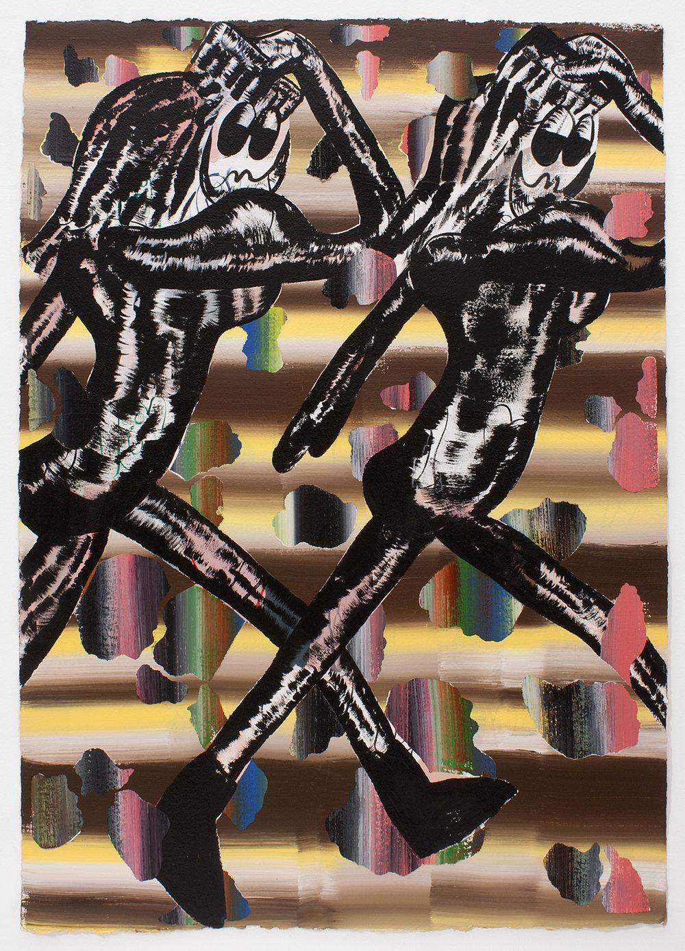 Bridget Mullen - We Break Symbolic, 2016Acrylic paint on paper42 x 29.5 in/106.68 x 74.93 cmFramedContact for price