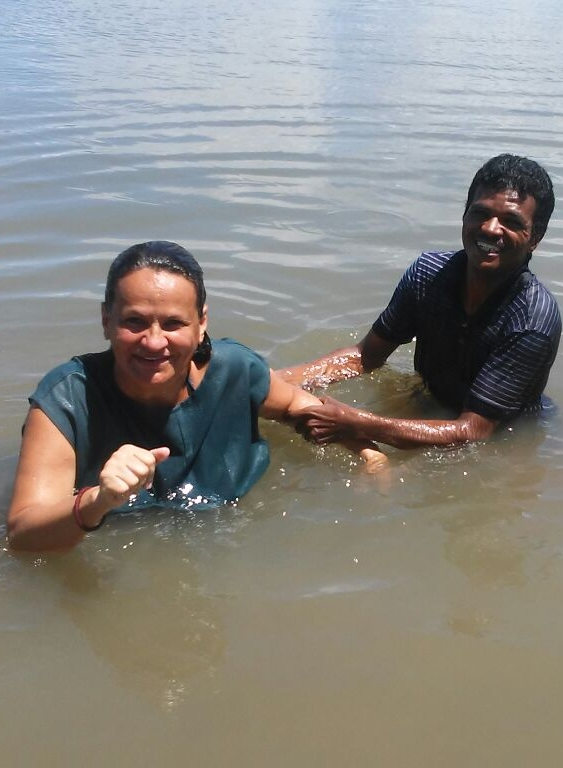 Brazil - Rising out of the water a new creature in Christ