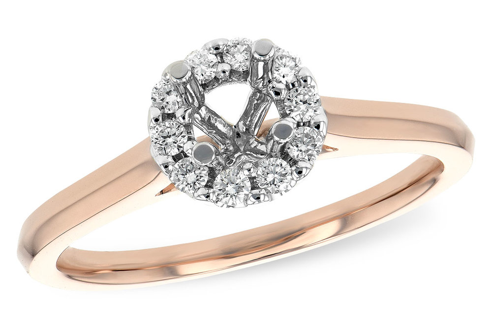 engagement ring rose gold
