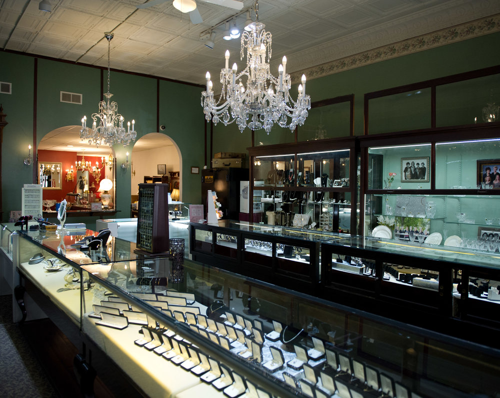 store interior melody's quality jewelry
