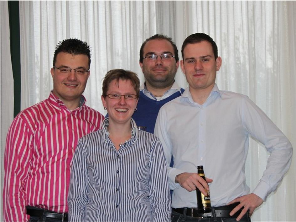 Jan Maarten, Ingrid, Joost, Mathijs