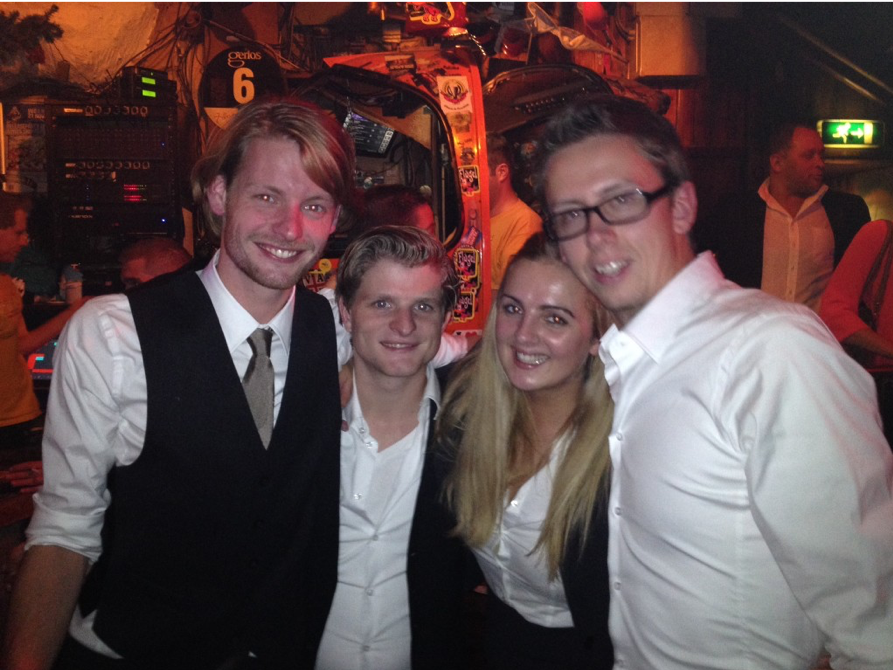 Owen, Jeroen, Corine, Merlijn