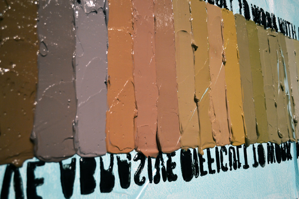 #Gradient / Pigmented caulking on decoupaged vinyl / 24''X108'' / Installation for SKIN 2016 / 2016