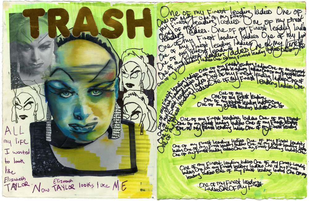 Ergo Classy Trash and Faux-Feminism | Original Handmade Zine | Mixed media drawing, painting and collage | 13''X20'' | 2014
