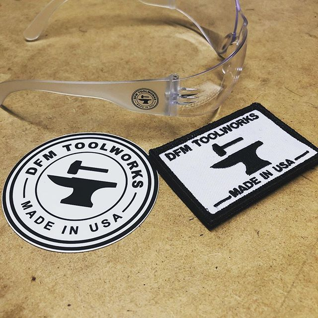 Current state of the swag pack - safety glasses, patch and sticker. I'm trying to avoid t shirts for now. Any ideas? 🛠🛠 🛠🛠 The Velcro patch I'm offering can easily be added to a hat or tool bag that has Velcro loops already sewn on. So any T shirt, sweater or hat can become even sweeter with this patch 😂