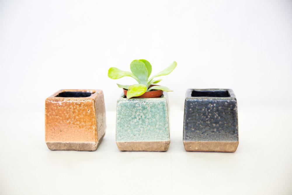Square Ceramic Planters $8