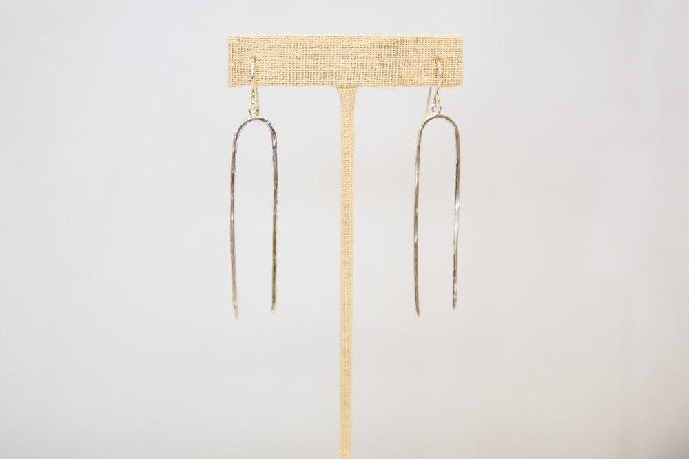 Silver lux earrings $48