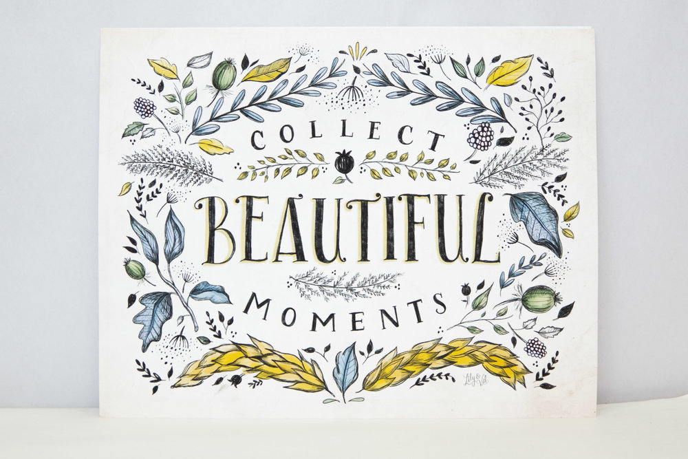 """""""Collect Beautiful Moments"""" canvas $28.95"""