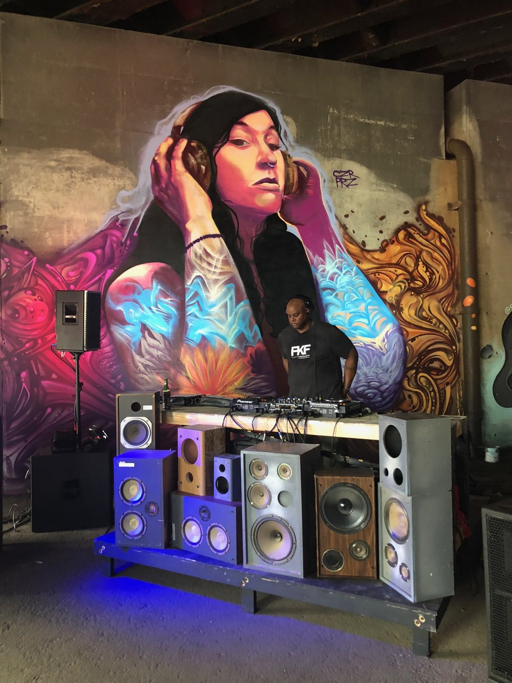 GOOD VIBRATIONS  Frankie Knuckles Tribute Celebration 16' x 13'  The BLine Chicago, IL  2018