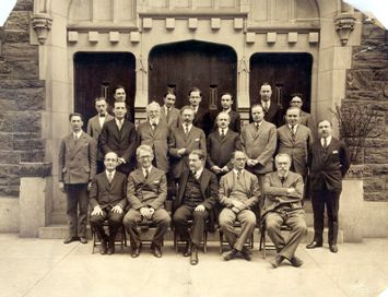 Rabbi Stephen S. Wise and his faculty at the Jewish Institute of Religion, 1927