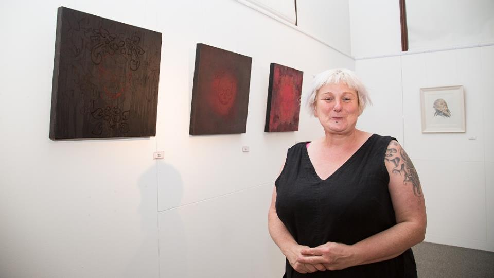 Sally Young - Sally is a painter and mixed media artist, with an interest in the human psyche and mental health. She is a member of Conway Mill Studios, and her work has been shown across Northern Ireland, in venues such as The Waterfront, Queen Street Studios and Island Art Centre.