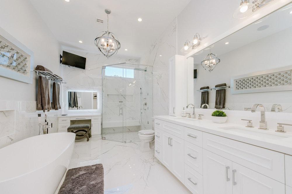 woodland hills master bathroom remodel small 7jpg - Bathroom Tile Gallery