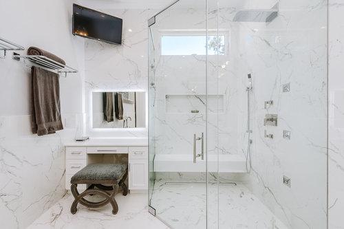 woodland hills master bathroom remodel small 3jpg - Bathroom Tile Gallery