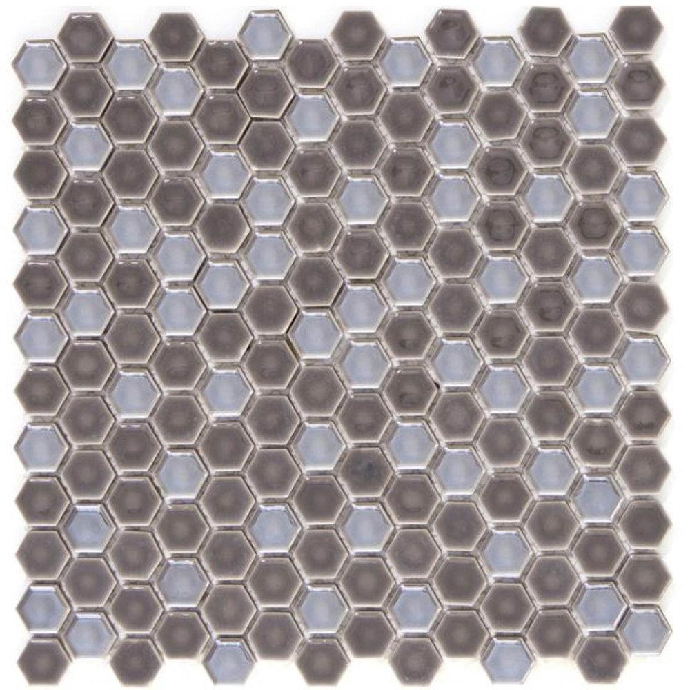 Confetti Hexagon Pewter