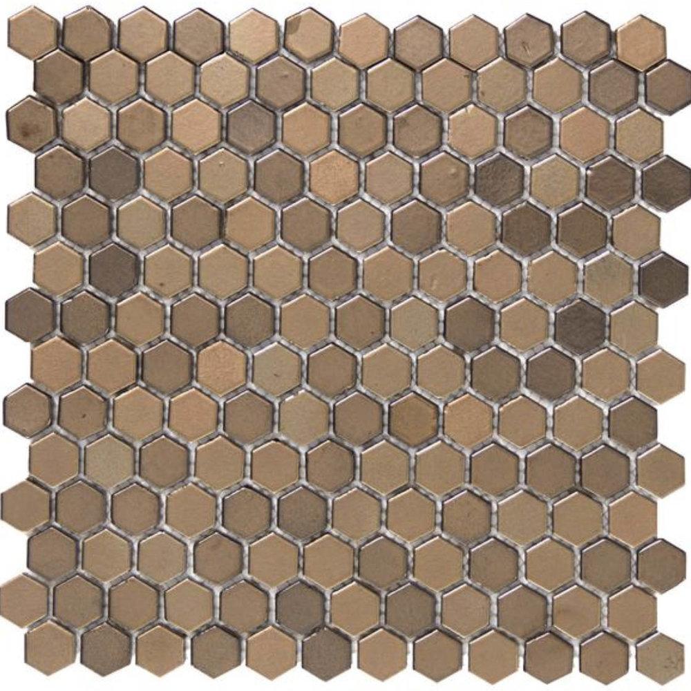 Confetti Hexagon Bronze