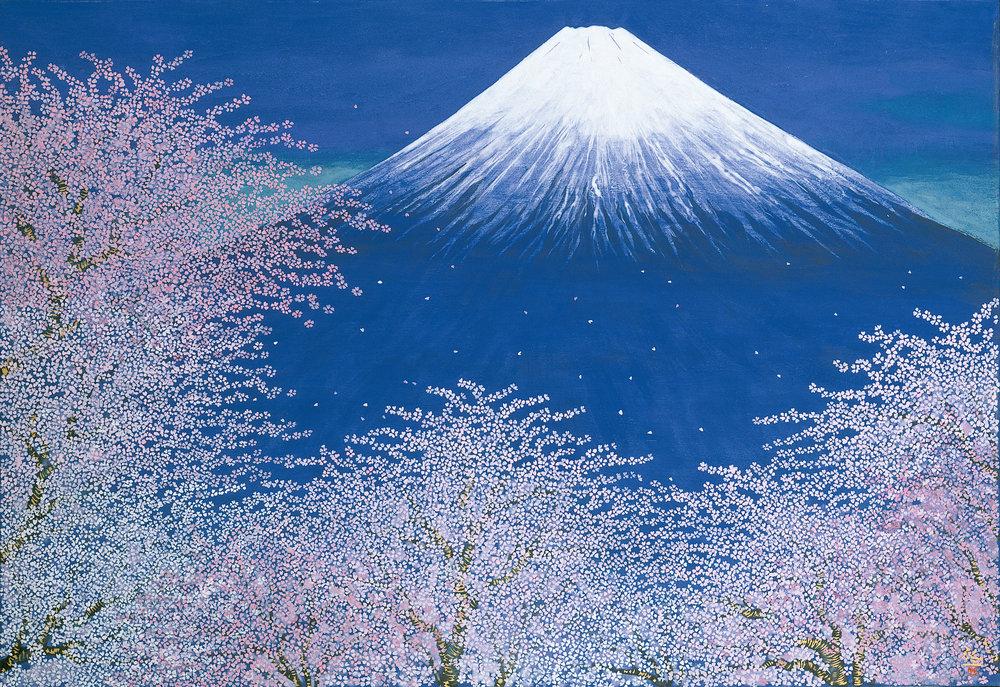平松礼二《富士と桜図》S0343改.jpg