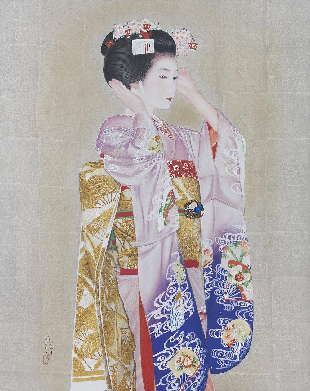 (Above) Nobuyoshi Aoyama ' A Crown of Sakura ' 2018